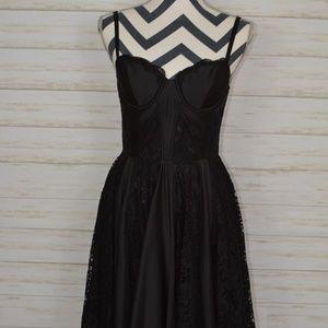 Guess Little Black Dress Satin/Lace Bustier Style